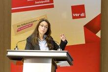 """Yasmin Fahimi anl. der ver.di-Veranstaltung zum """"Tag der Selbstverwaltung"""" am 11.05.2016 in Berlin"""