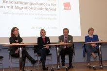 """Arbeitsmarktpolitische Tagung """"Beschäftigungschancen für Menschen mit Migrationshintergrund - Anforderungen an eine teilhabeorientierte Arbeitsmarktpolitik"""" am 28.3.2014"""