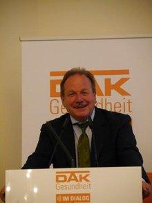 """Frank Bsirske anl. der gemeinsamen Veranstaltung der ver.di mit der DAK Gesundheit zum Thema """"Migration und Gesundheit"""" am 26.4.2016"""