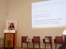 """Staatsministerin Aydan Özoguz anl. der gemeinsamen Veranstaltung der ver.di mit der DAK Gesundheit zum Thema """"Migration und Gesundheit"""" am 26.4.2016"""