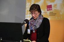 """Manuela Fricke anl. der ver.di-Fachkonferenz """"Teilhabe junger Menschen mit Behinderung an der beruflichen Ausbildung – Wie kann Inklusion gelingen?"""" am 4.11.2015"""