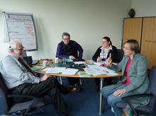 Besprechung am 3.04.2014 zwischen Rolf Erdmann, Werner Hagedorn, Eva M. Welskop-Deffaa und Melanie Martin