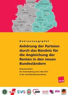 """6. Workshop des """"Bündnisses für eine gerechte Rentenangleichung in den neuen Bundesländern"""" am 8.5.2013"""