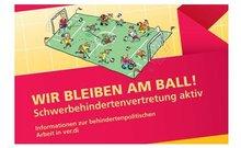 """Cover der Broschüre """"Wir bleiben am Ball!"""" (Auflage 2015)"""