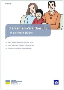 Broschüre der Deutschen Rentenversicherung in Leichter Sprache