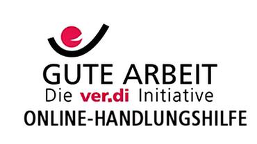 Logo Gute Arbeit mit Zusatz Online-Handlungshilfe