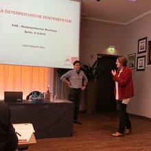 DGB-Expertenveranstaltung zum Österreichischen Rentensystem am 21.9.2016