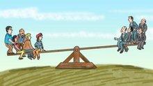"""Auszug aus Cartoon """"Viola, die Versichertenälteste"""""""