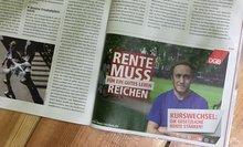 Beispiel einer Anzeige zur DGB-Rentenkampagne