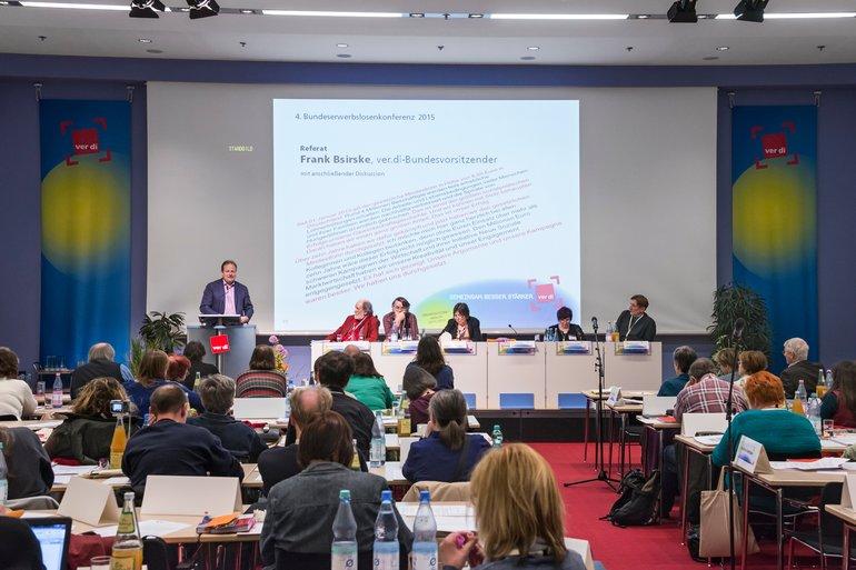 Frank Bsirske anl. der 4. Bundeserwerbslosenkonferenz am 23./24.3.2015