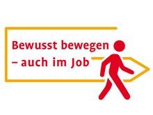 "Logo der BGW-Kampagne ""Bewusst bewegen - auch im Job"""