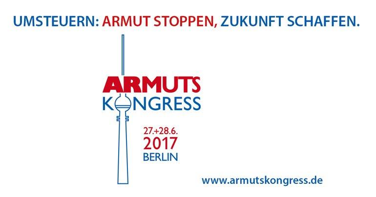 Logo zum Armutskongress am 27./28. Juni 2017 in Berlin