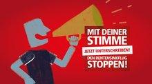 """Foto zur DGB-Petition """"Mit deiner Stimme den Renten-Sinkflug stoppen"""""""