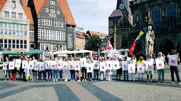 Rabatz für gute Pflege. Bremen, 21. Juni 2017