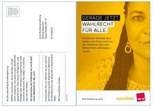 Postkarten Wahlrecht für alle