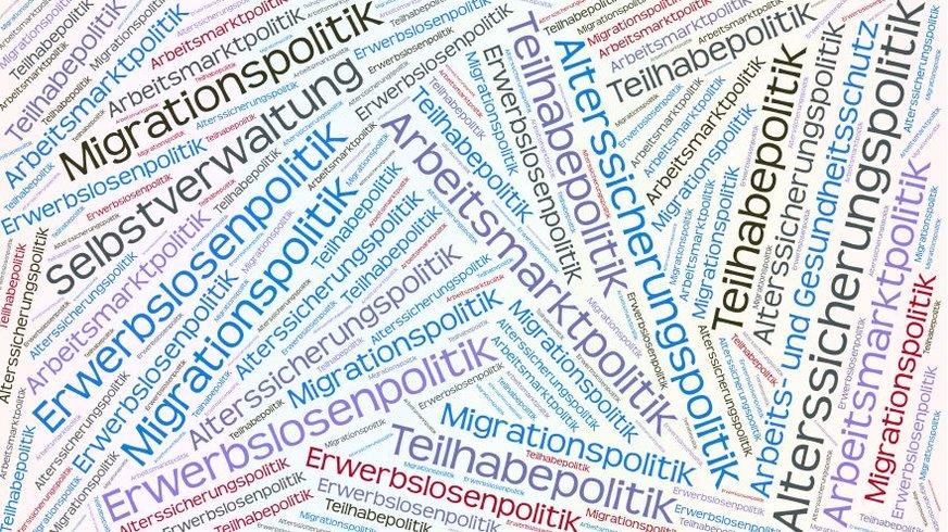 Themen des Ressorts Arbeitsmarkt-und Sozialpolitik