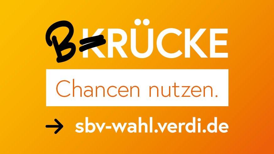 """Logo zur SBV-Wahl; """"Brücke"""
