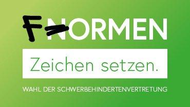 """Logo zur SBV-Wahl 2018; """"Formen"""""""