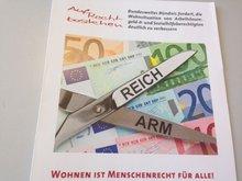 """Deckblatt des Aufrufes zur Aktionswoche """"Wohnen ist Menschenrecht für alle!"""""""