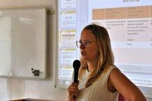 Ricarda Scholz (Vorstandsmitglied) anl. der Jahrestagung der Gelben Hand