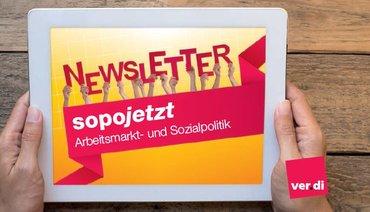 Newsletter des Ressorts Arbeitsmarkt- und Sozialpolitik sopojetzt!