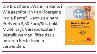 Bestellhinweis Renten-Broschüre