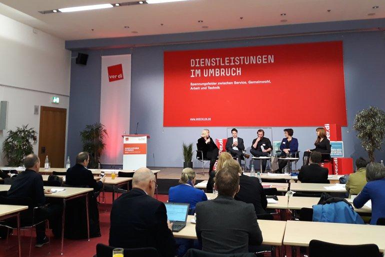 """gemeinsame Tagung der ver.di und der Hans-Böckler-Stiftung """"Dienstleistungen im Umbruch"""""""