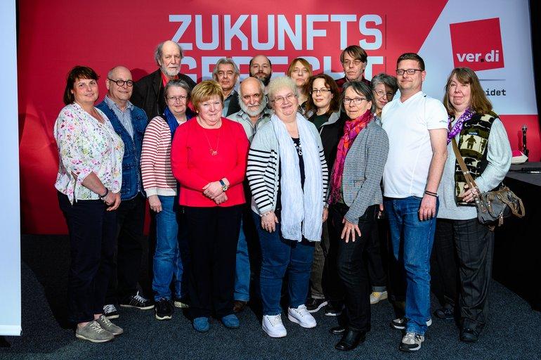 Mitglieder des ver.di-Bundeserwerbslosenausschusses (BEA), die am 09.04.2019 anl. der 5. Bundeserwerbslosenkonferenz gewählt wurden