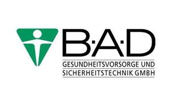 Logo des Berufsgenossenschaftlichen Arbeitsmedizinischen Dienstes (B.A.D GmbH)