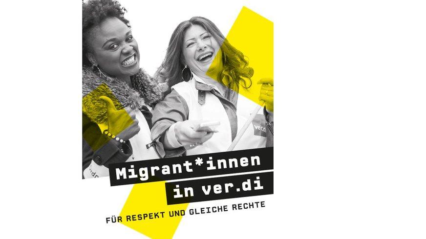 Flyermotiv Migrant*innen in ver.di