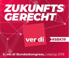 Logo des 5. ver.di-Bundeskongresses 2019
