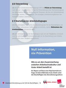"""Titelbild der Broschüre """"Null Information, nix Prävention"""""""