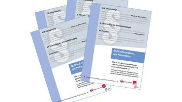 """Auszug aus dem Titelbild der Broschüre """"Null Information, nix Prävention"""" (Arbeitsberichterstattung Nr. 14)"""