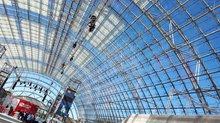 Glashalle der Messe Leipzig anl. des 5. ver.di-Bundeskongresses 2019