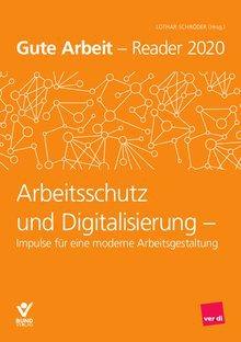 """Cover der Broschüre """"Arbeitsschutz und Digitalisierung"""" (Gute Arbeit - Reader 2020)"""