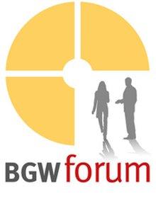 Grafik zur Veranstaltungsreihe des BGW forum