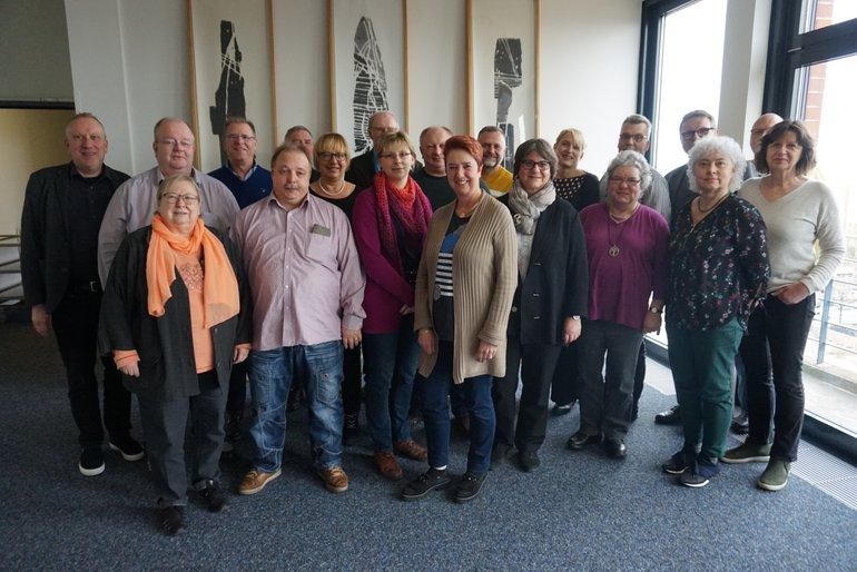 Foto der Mitglieder des ver.di-Bundesarbeitskreises Behindertenpolitik (BAK) anl. der Herbsttagung am 08./09.10.2019 in Berlin