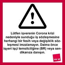 Corona-Warnung in türkischer Sprache
