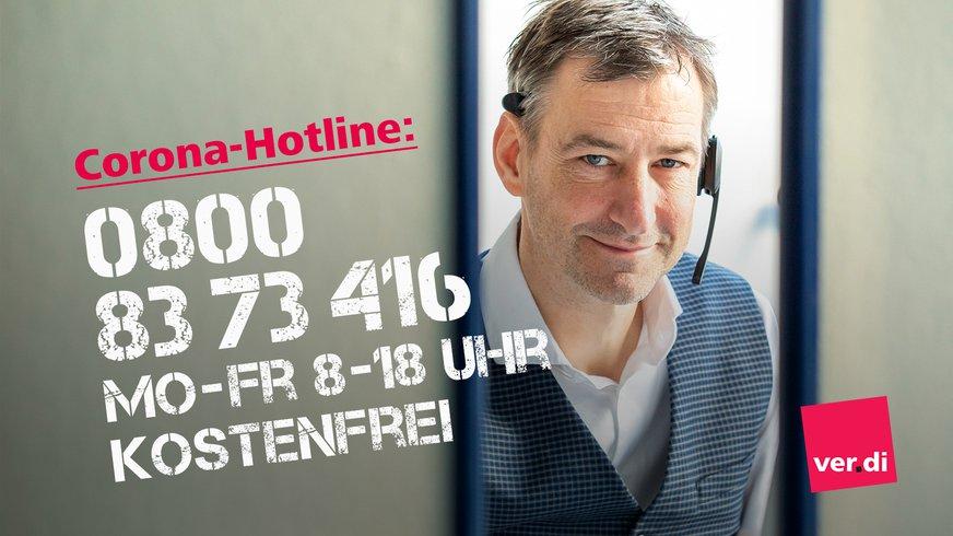 Andreas Michelbrink von ver.di an der Corona-Hotline