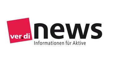 Logo der Informationsreihe ver.di NEWS für Aktive