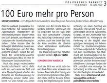 "Auszug aus ver.di NEWS 8 vom 13.6.2020: ""100 Euro mehr pro Person"""