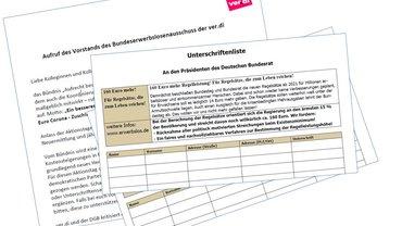 Aufruf und Unterschriftenlisten zu Aktionstage Regelsätze