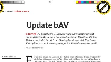 """Ausschnitt aus Interview """"Update bAV"""" aus der Zeitschrift Arbeitsrecht im Betrieb (AiB), 10/2020"""