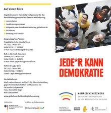 Flyer des Kompetenznetzwerk Demokratieförderung in der beruflichen Bildung