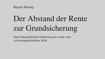 """Titelbild des Buches von Ragnar Hönig """"Der Abstand der Rente zur Grundsicherung"""""""