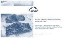 """Titelseite der Präsentation von CAIDAO: """"Forum 3"""""""
