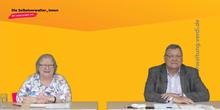 Dagmar König (ver.di Bundesvorstand) und Axel Schmidt (ver.di Referat Soziale Selbstverwaltung/Sozialwahlen)